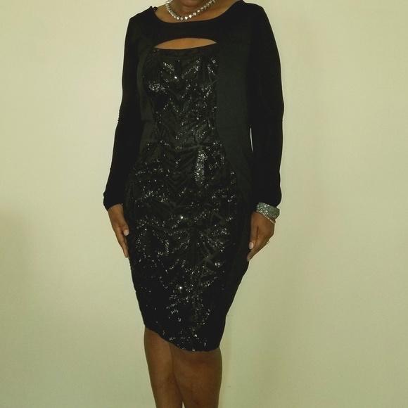 1c7bada5fac NWT Lane Bryant Black Sequin Dress